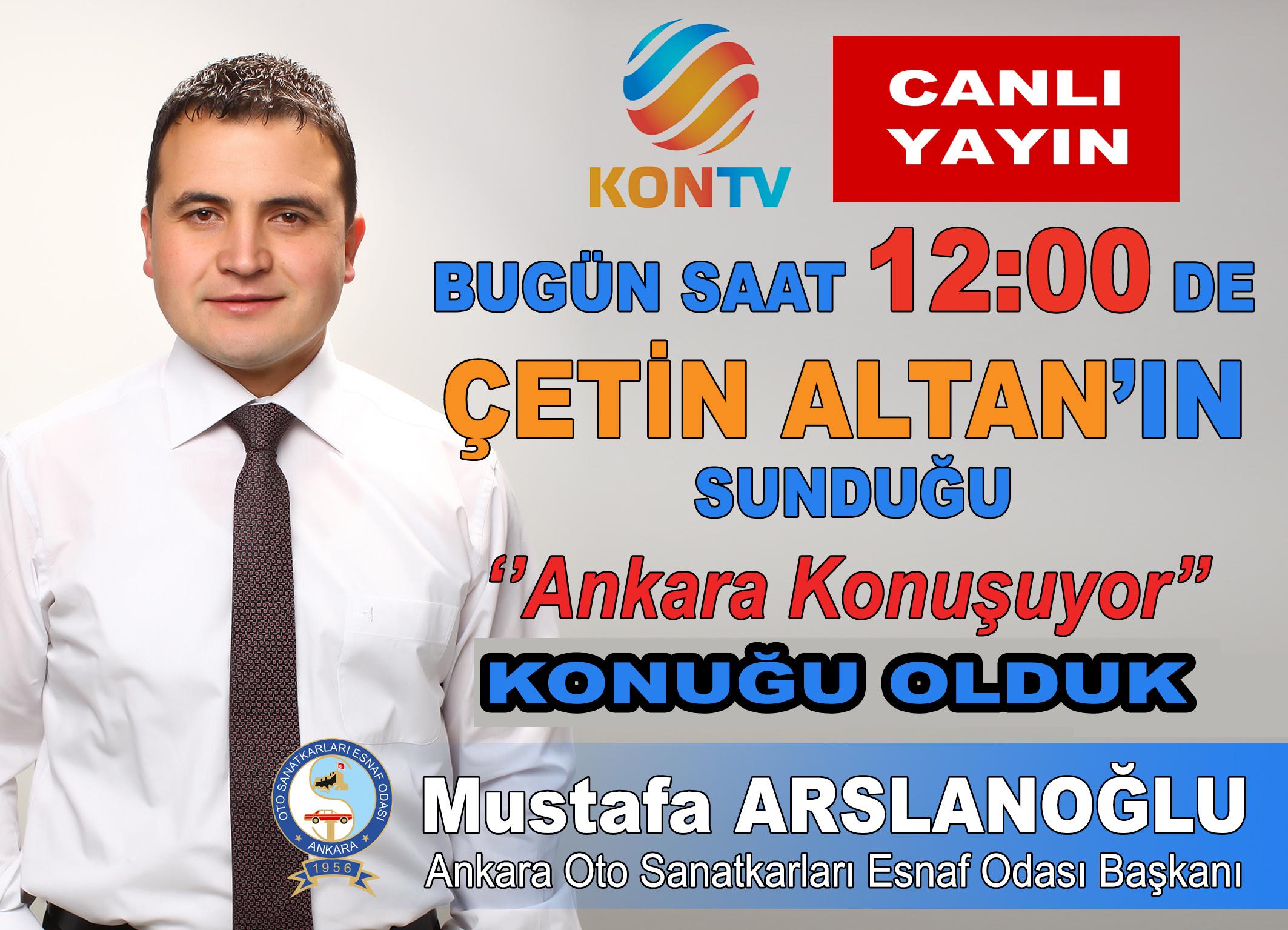 KON TV ÇETİN ALTAN'IN CANLI YAYIN KONUĞU OLDUK